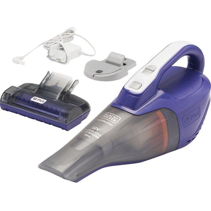 Save £10.00 - BLACK  DECKER Pet Dustbuster DVB315JP-GB Handheld Vacuum Cleaner - Purple & Grey, Black