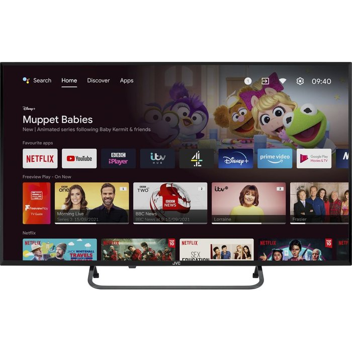 Save £80.00 - JVC LT-43CA790 Android TV  Smart Full HD LED TV with Google Assistant