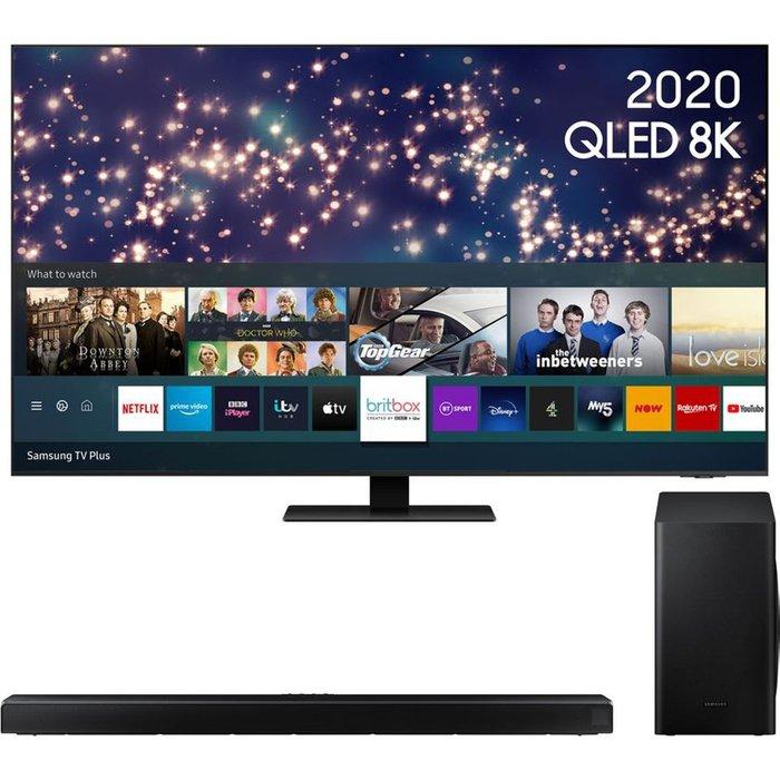 Save £200.00 - SAMSUNG QE65Q700TATXXU QLED Smart TV & Sound Bar Bundle