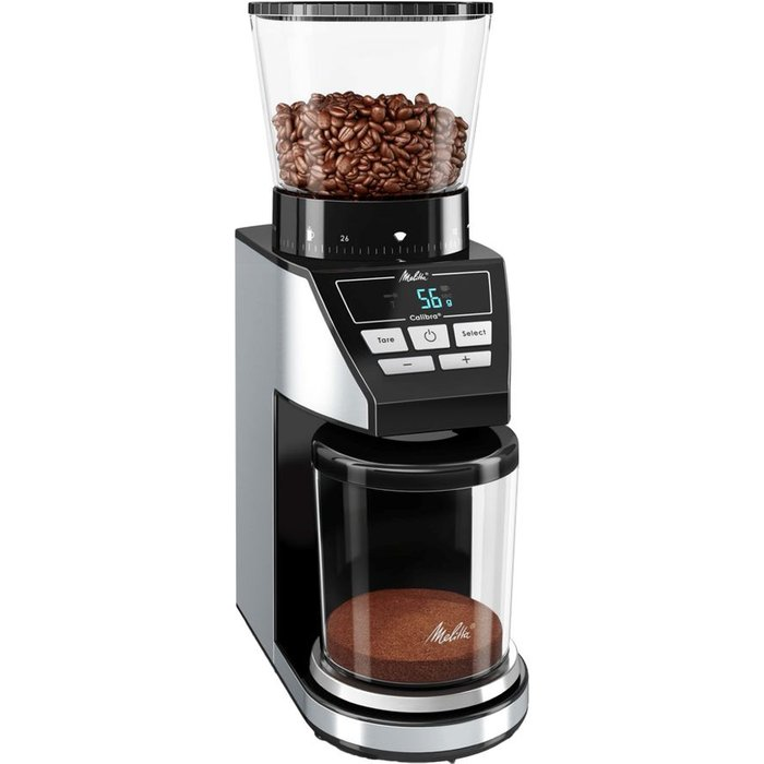 Save £5.00 - MELITTA Calibra Electric Coffee Grinder - Black & Stainless Steel, Stainless Steel
