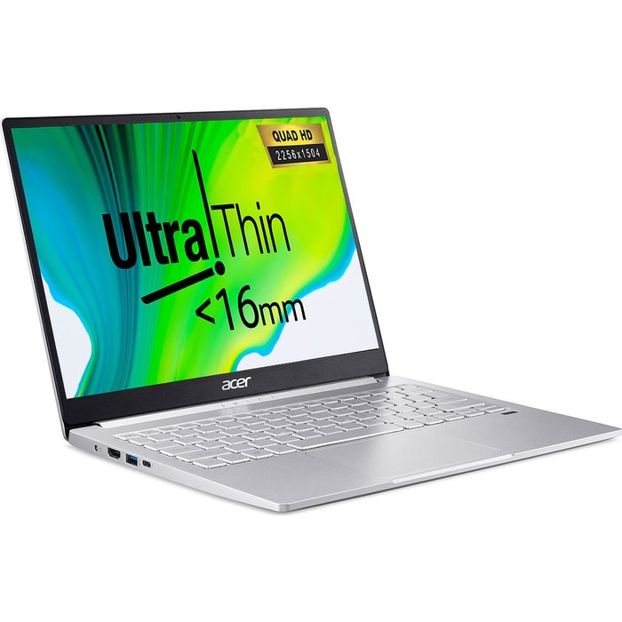 """Save £100.00 - ACER Swift 3 13.5"""" Laptop - Intel®Core™ i7, 512 GB SSD, Silver, Silver"""