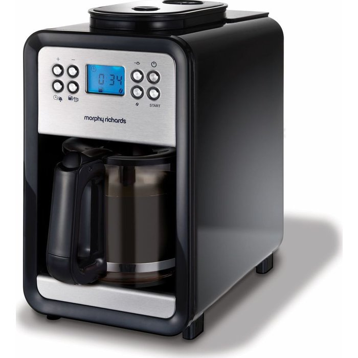 Save £10.00 - MORPHY RICHARDS 4 Cup Grind and Brew 162101 Bean to Cup Coffee Machine - Brushed Steel, Brushed Steel