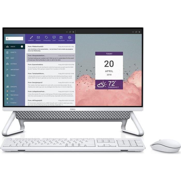 """Save £160.00 - DELL Inspiron AIO 5400 23.8"""" All-in-One PC - Intel®Core i3, 256 GB SSD, Silver, Silver"""