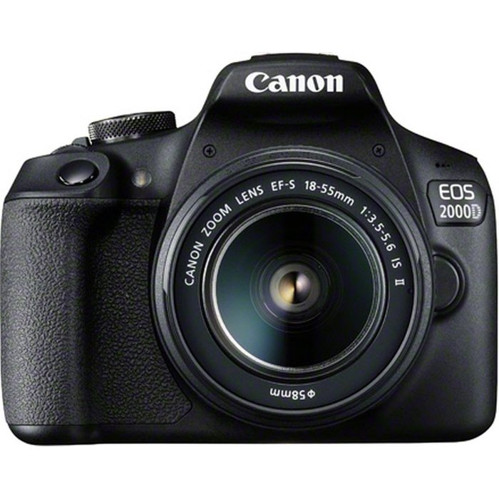 Save £10.00 - Canon EOS 2000D DSLR Camera with EF-S 18-55 mm f/3.5-5.6 IS II Lens