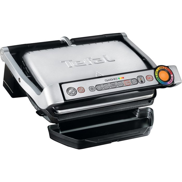 Save 35% - TEFAL OptiGrill GC713D40 Health Grill - Stainless Steel, Stainless Steel