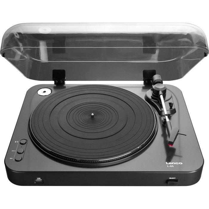 Lenco Lenco L-85 Turntable for Vinyl Records with USBMP3 Conversion, 33 & 45 RPM - Black