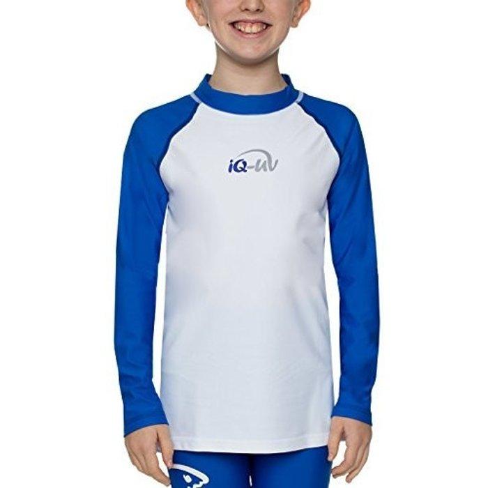 iQ-Company iQ-Company Kids UV 300 Shirt  Long sleeve blue/white