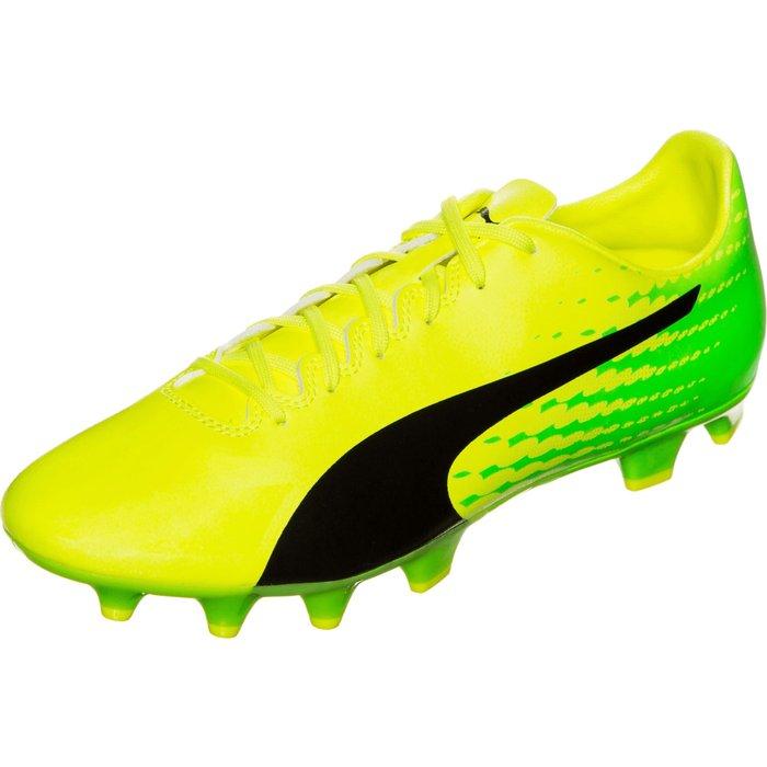 Puma Puma evoSPEED 17.4 FG safety yellow/puma black/green gecko