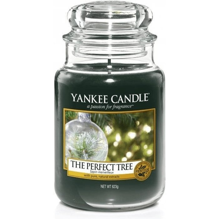 Yankee Candle Yankee Candle Large Jar Scented Candle, The Perfect Tree, Up to 150 Hours Burn Time, Glass, Green