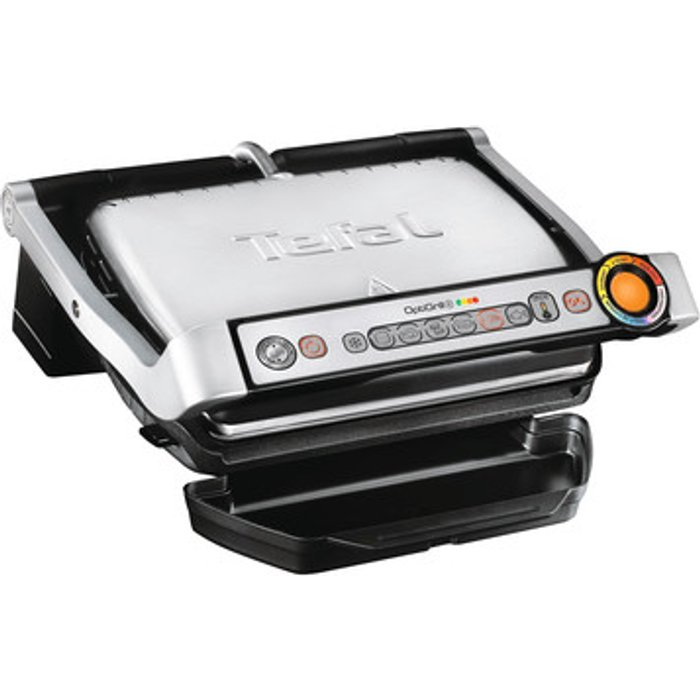 Tefal Tefal GC713D40 Stainless Steel OptiGrill+ 5 Portions Health Grill with Automatic Thickness and Temperature Measurement, 2000 W, Silver