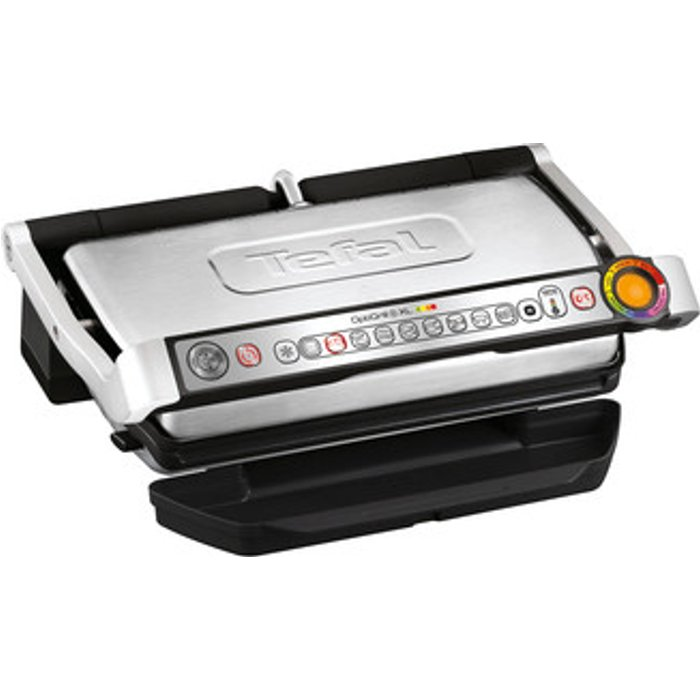 Tefal Tefal GC722D40 Optigrill Plus X-Large Grill with 9 Automatic Settings and Cooking Sensor, Stainless Steel, Non Stick Removable Plates