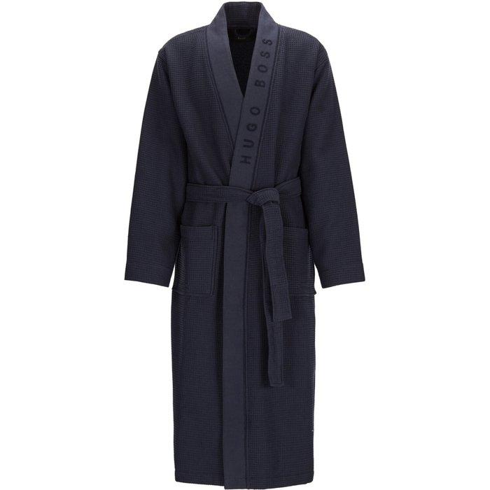 Boss Mens BOSS Grey Waffle Kimono Robe -  Grey