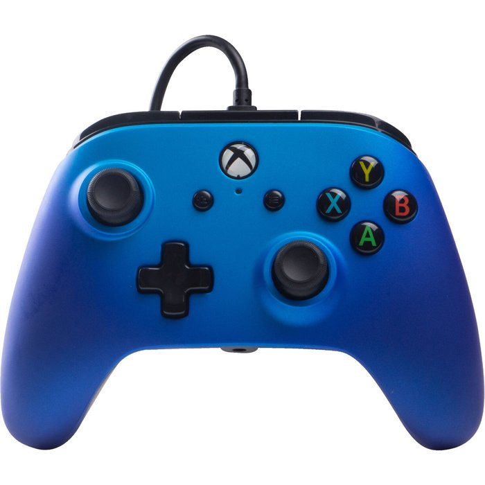 PowerA Wired Officially Licensed Controller For Xbox One, S, Xbox One X & Windows 10 - Blue Xbox One