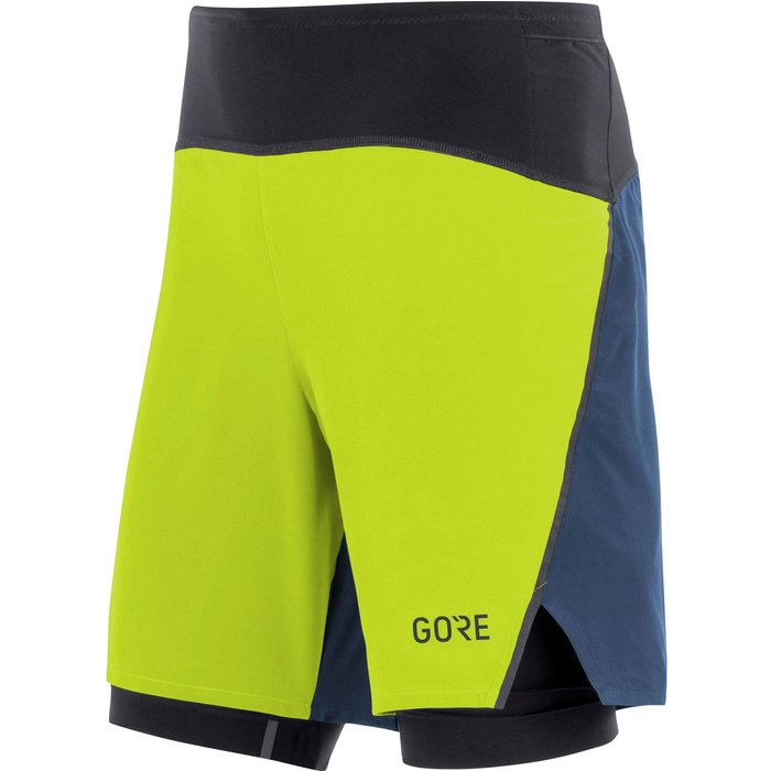 Gore Gore R7 2in1 Shorts citrus green/deep water blue