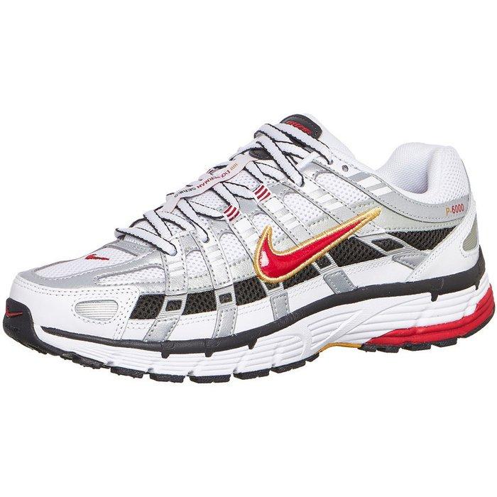 Nike Nike P-6000 (BV1021) white/metallic platinum/dark charcoal/varsity red