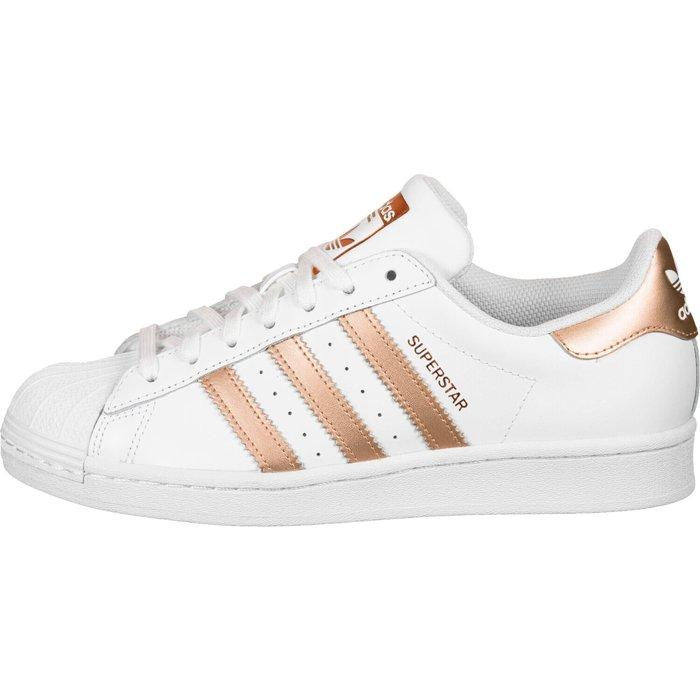 Adidas Adidas Superstar W cloud white/copper met./core black