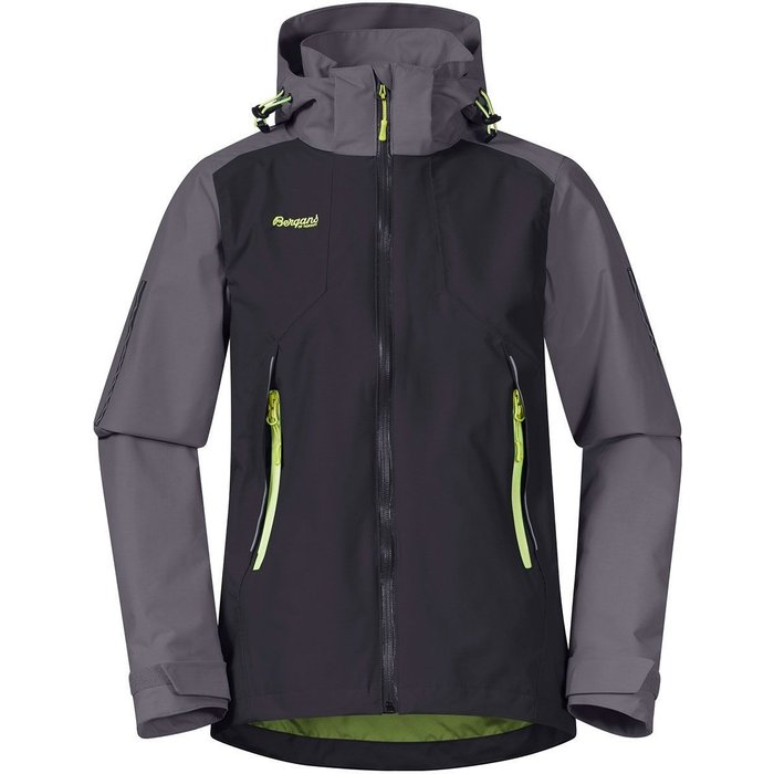 bergans Bergans Sjoa 2L Youth Jacket Solid Charcoal/Solid Dark Grey/Sprout Green