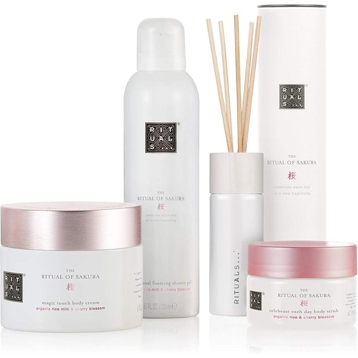 RITUALS RITUALS The Ritual of Sakura Luxury and Relaxing Beauty Gift Set Large for Women, contains a shower foam, body scrub, body cream and mini fragrance sticks