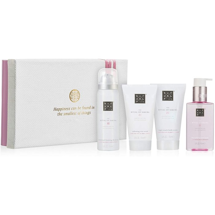 RITUALS RITUALS the Ritual of Sakura Luxury and Relaxing Beauty Gift Set Small for Women, contains a shower foam, body scrub, body cream and hand soap