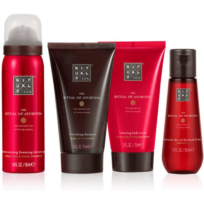 RITUALS RITUALS The Ritual of Ayurveda Luxury and Relaxing Beauty Gift Set Small for Women, contains a shower foam, shampoo, body cream and dry body oil