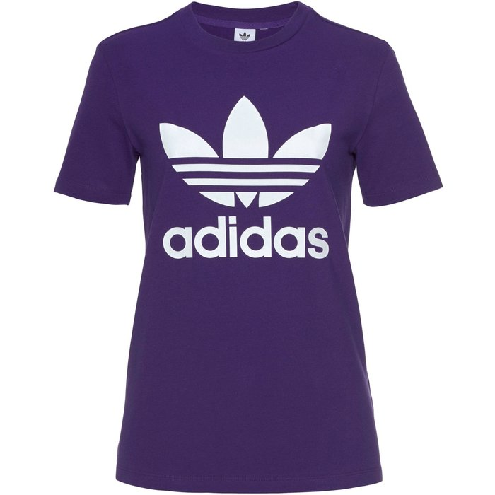 adidas originals Womens adidas Originals Trefoil T-Shirt -  Purple