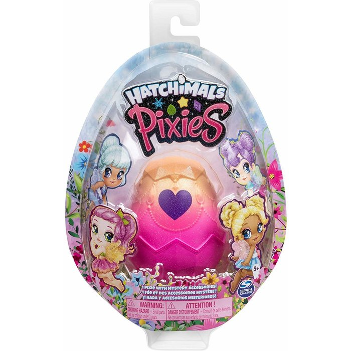 HATCHIMALS HATCHIMALS 6047278 Pixies, 2.5-Inch Collectible Doll and Accessories Styles May Vary, for Kids Aged 5 and Up, Multicolored