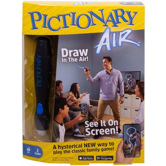 Mattel Games Mattel Games Pictionary Air Family Drawing Game, Links to Smart Devices, 8 Years Old and up