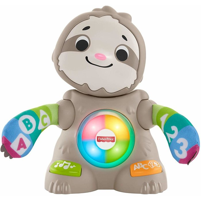 Fisher Price Fisher-Price GHR18 Linkimals Smooth Moves Sloth, Baby Toy with Music & Lights, Multicolour
