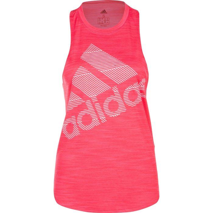 Adidas Womens adidas Badge Of Sport Logo Tank -  Pink