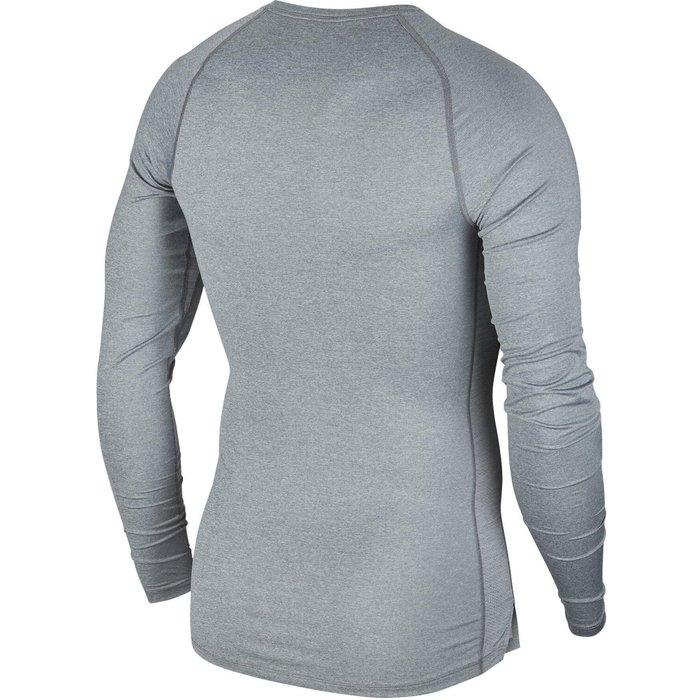 Nike Mens Nike Pro Long Sleeved Base Layer Top -  Grey