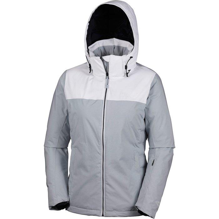 Columbia Columbia Snow Dream Womens Ski Jacket, womens, WK0036, Cirrus Grey HeatherBlanc, M