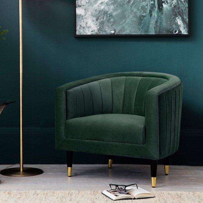 Hudson Living Serrano Mallard Velvet Occasional Chair | Outlet / Green