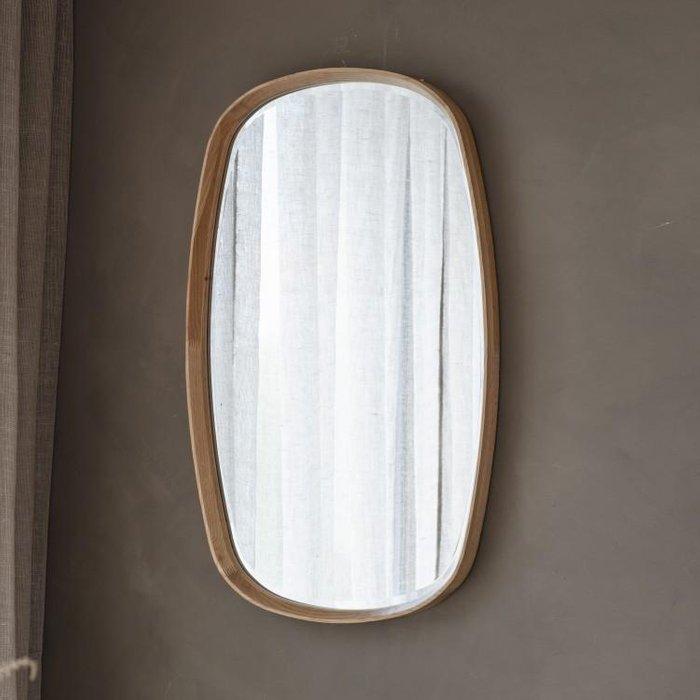 Gallery Direct Keaton Oval Oak Mirror | Outlet