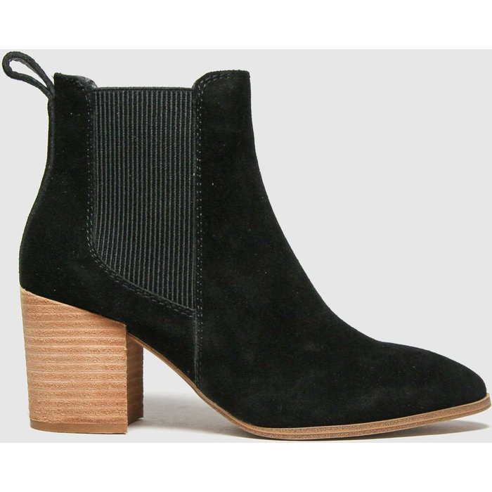 Save 73% - Schuh Black Callie Suede Chelsea Boots