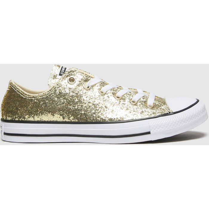 Save 52% - Converse Gold Ox Glitter Trainers