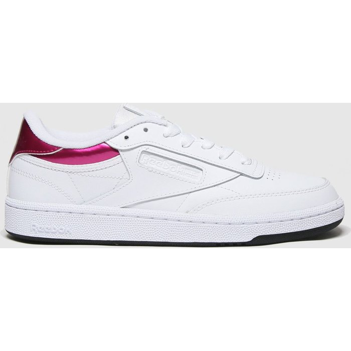 Save 60% - Reebok White & Pink Club C 85 Trainers