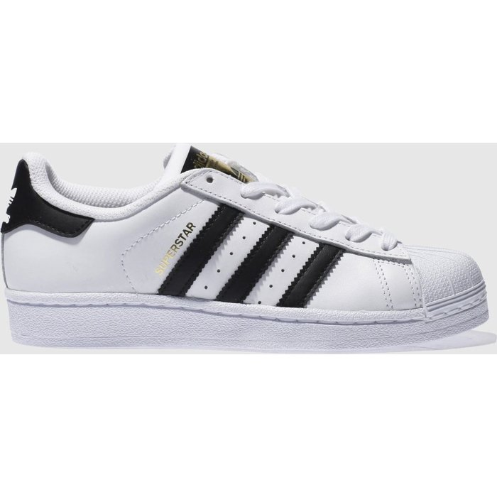 Save 62% - Adidas White & Black Superstar Foundation Trainers Youth