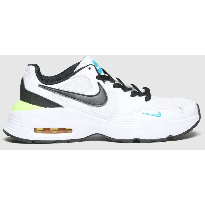 Save 58% - Nike White & Black Air Max Fusion Trainers Youth