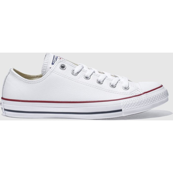 Save 31% - Converse White All Star Leather Ox Trainers