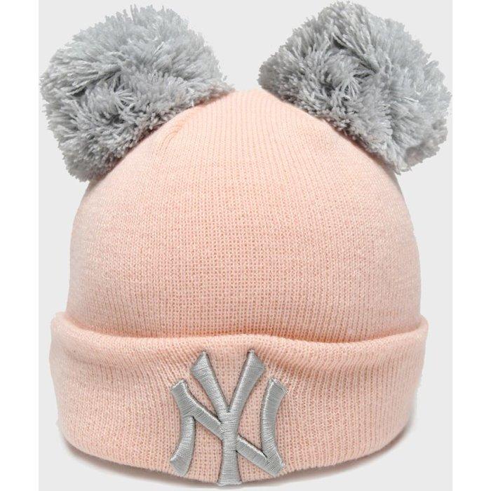 HALF PRICE! Accessories New Era Pink Kids Double Pom Knit Ny