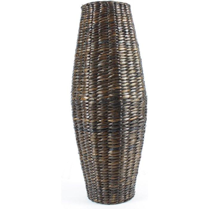 Brown Cattail Vase Brown