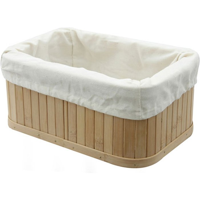 Woodford Rectangular Bamboo Storage Basket Natural (Brown)
