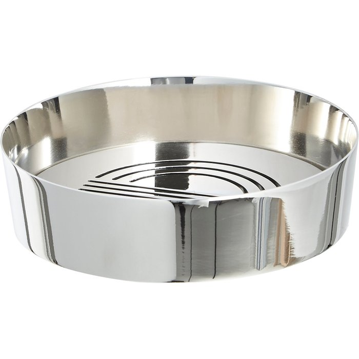5A Fifth Avenue Chrome Plated Soap Dish Silver