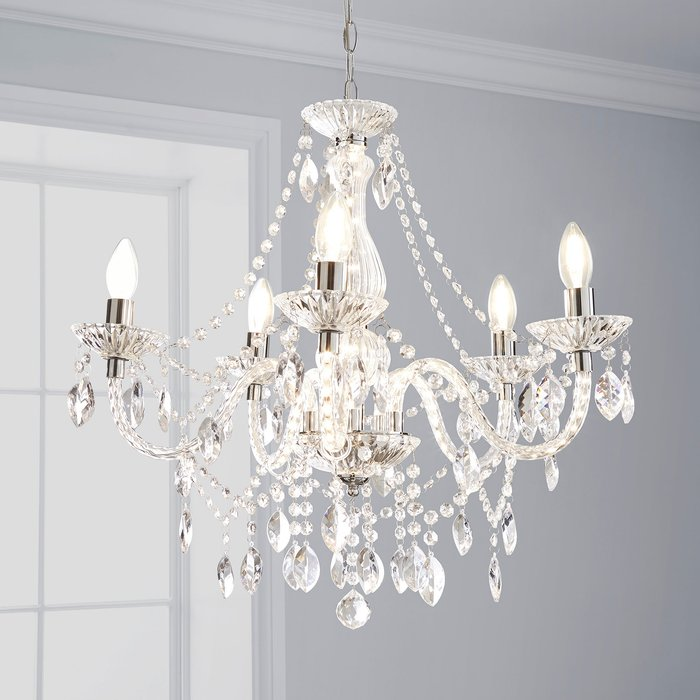 Marie Therese 5 Light Integrated LED Chrome Chandelier Chrome