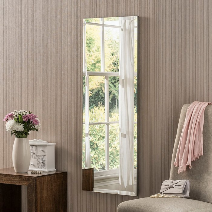 Yearn Bevelled Rectangle Mirror 122x46cm Clear