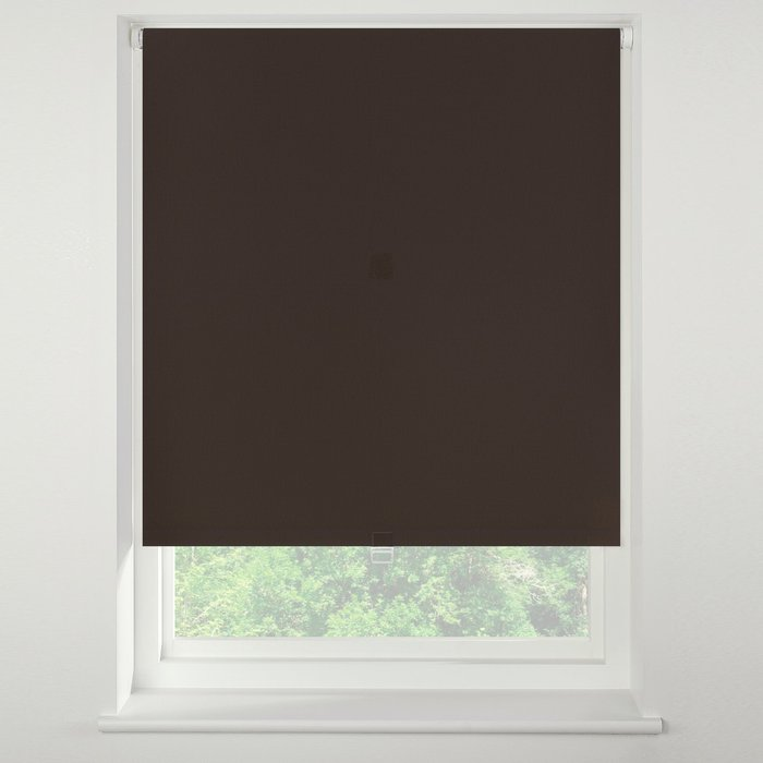 Swish Rich Cocoa Cordless Blackout Roller Blind Brown
