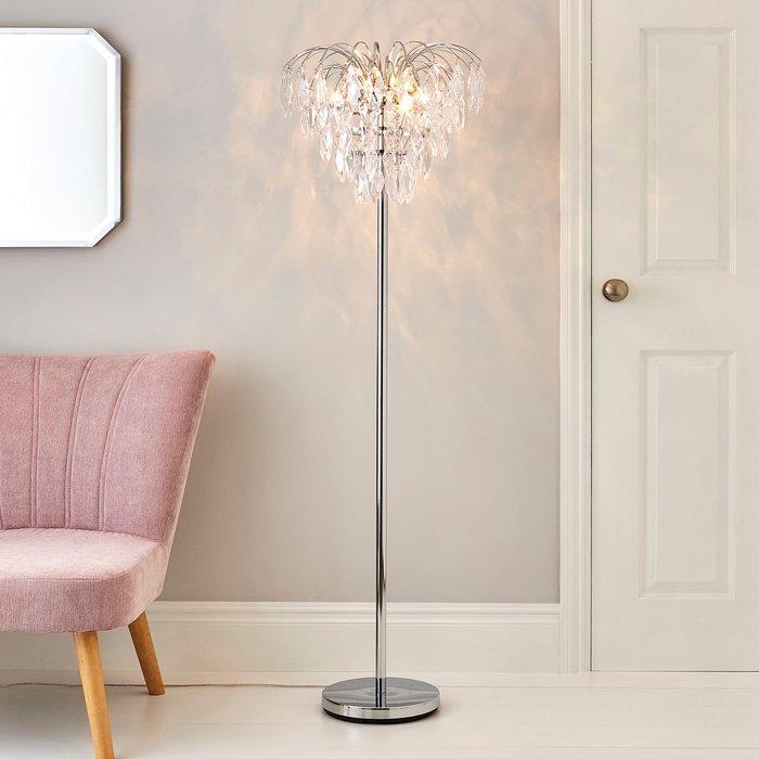 Parla Chrome Floor Lamp Chrome