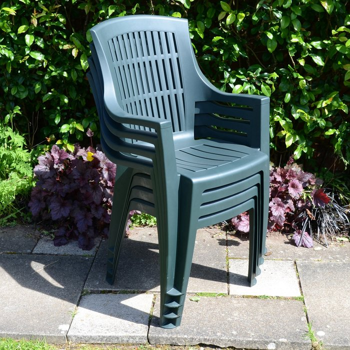 Trabella Parma Set of 4 Chairs Green