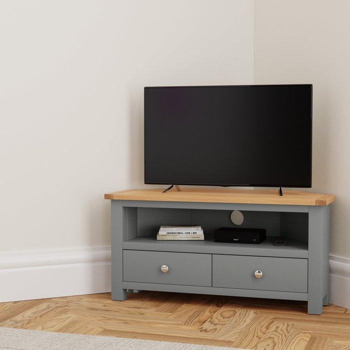 Bromley Slate Corner TV Stand Slate (Grey)