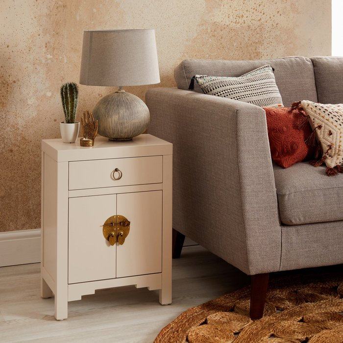 Hanna Mini Oyster Chest White and Brown
